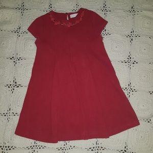 ZARA !! LITTLE GIRL RED  DRESS